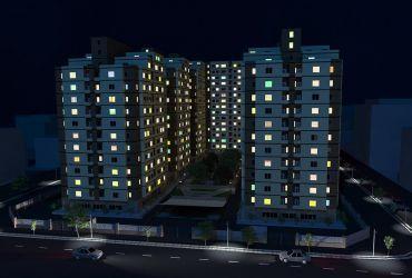 برج های ستاره پونک قزوین در شب