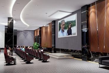 طراحی سالن آمفی تئاتر در برج های مسکونی رزت