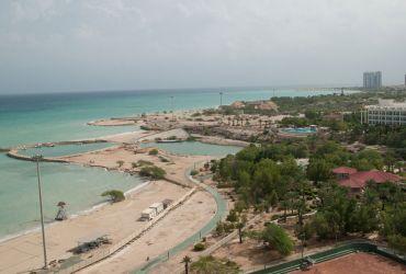 دید از برج مسکونی اطلس کیش به خلیج فارس